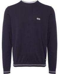 BOSS Green - Navy Rime Sweatshirt - Lyst