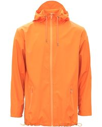Rains - Orange Breaker Jacket - Lyst