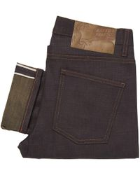 Naked & Famous - Indigo Super Skinny Guy Army Green Weft Slub Stretch Selvedge Jeans - Lyst