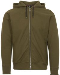 PS by Paul Smith - Green Organic-cotton Zip-front Hoodie - Lyst