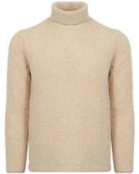 Folk - Ecru Interference Roll Neck - Lyst