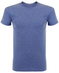 Naked & Famous - Naked And Famous Vintage Circular Knit Blue T-shirt - Lyst