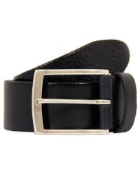 Andersons - Anderson Navy Blue Leather Belt - Lyst