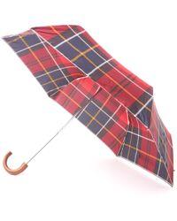 Barbour Tartan Mini Umbrella - Red & Navy