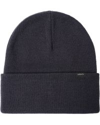 09e03be916c Edwin Shackle Charcoal Wool Cable Knit Beanie Hat I020463 for Men - Lyst