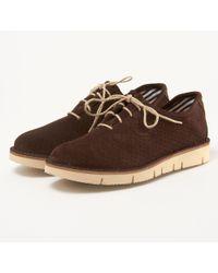 Fracap - Forata Dark Brown Suede Shoes - Lyst