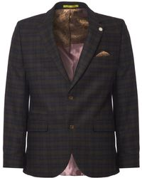 Gibson London - Green & Red Soft Check Suit - Lyst