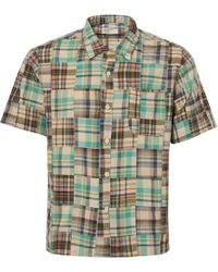 Universal Works - Olive Patchwork Road Shirt - Lyst
