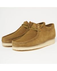 Clarks - Olive Suede Wallabee - Lyst