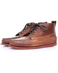 G.H.BASS - Bass Ranger Pull Up Mid Brown Leather Boots - Lyst