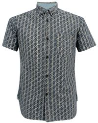 Universal Works - Bacal Chambray Ecro Shirt - Lyst