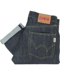 Edwin - Nashville Red Listed Selvage Denim - Unwashed - Lyst
