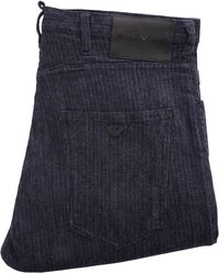 Emporio Armani - J04 Loose Fit Striped Jean - Blu - Lyst