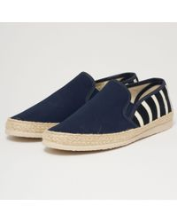 Armor Lux - Striped Canvas Espadrilles - Navy & Natural - Lyst