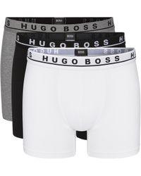 4a2d4687137d BOSS Hugoboxer 3p Fn Solid Open Misc Boxer Shorts for Men - Lyst