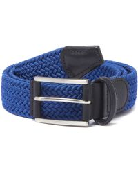 Andersons - Anderson's Woven Blue Belt - Lyst