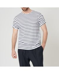 Armor Lux - White & Navy Theviec Breton Sailor Shirt - Lyst