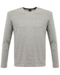 BOSS - Medium Grey Style Shirt Rn Long Sleeve - Lyst