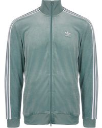 87b0ad2f908a Lyst - adidas Originals Os Velour Track Top in Blue for Men