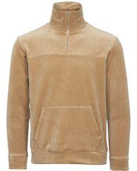 Still By Hand - Beige Half Zip Sweatshirt - Lyst
