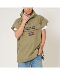 Napapijri - Khaki Rainforest Hooded Cape - Lyst