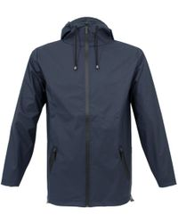 Rains - Breaker Blue Jacket - Lyst