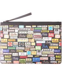 Bally - Bollis Large Coated Canvas Clutch Bag - - Lyst