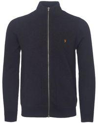 Farah - Navy Marl Fermoy Sweatshirt - Lyst