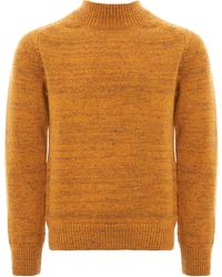 Norse Projects - Viggo High Neck Neps Jumper - Mustard Yellow - Lyst