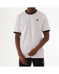 731ef6e17c1c Fila - White Essential Vintage T-shirt - Lyst