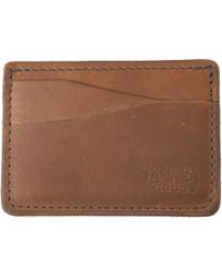 Tanner Goods - Journeyman Cardholder - Burgundy - Lyst