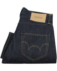 Edwin - Ed-45 Blue Loose Tapered Rainbow Selvedge Jeans - Lyst