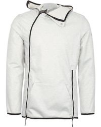 Asics - Grey Heather Laminated Terry Hoodie - Lyst