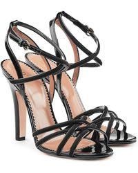 RED Valentino | Patent Leather Sandals With Suede | Lyst