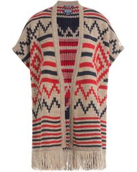 Woolrich - Printed Cape With Alpaca And Wool - Lyst