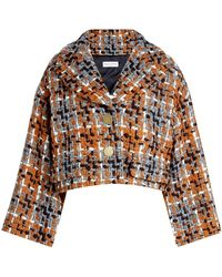 Sonia Rykiel - Cropped Tweed Jacket With Wool - Lyst