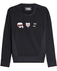 Karl Lagerfeld - Emoji Karl & Choupette Cotton Sweatshirt - Lyst