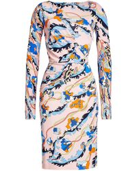 Emilio Pucci - Printed Dress With Silk - Lyst