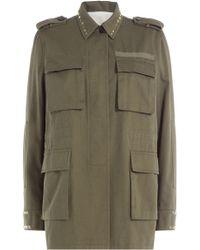 Valentino - Cotton Jacket With Rockstuds - Lyst