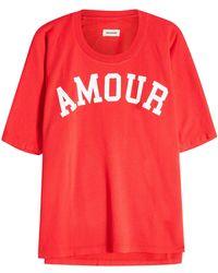 Zadig & Voltaire - Bedrucktes T-Shirt Portland - Lyst