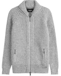 DSquared² - Knitted Cardigan With Alpaca And Virgin Wool - Lyst