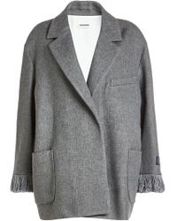 Zadig & Voltaire - Fringed Jacket With Wool - Lyst