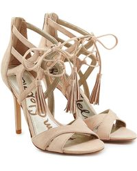 Sam Edelman - Azela Suede Stiletto Sandals - Lyst