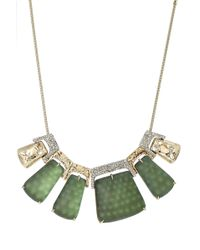 Alexis Bittar - Rocky 10kt Gold Necklace With Lucite, Crystals And Rhodium - Lyst