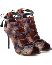 Malone Souliers - Lace-up Sandals With Leather - Lyst