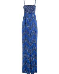Diane von Furstenberg - Silk Jersey Printed Jumpsuit - Lyst