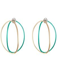 Delfina Delettrez - Big Ear-clipse Hoop Earrings In 18kt Gold - Lyst