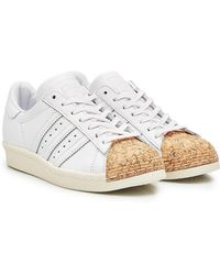 adidas Originals - Superstar Leather And Cork Sneakers - Lyst