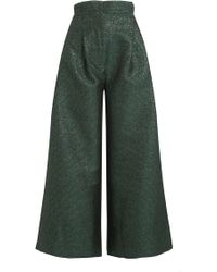 Natasha Zinko - Cropped Wide Leg Trousers - Lyst