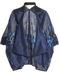 Roland Mouret - Fil Coupé Jacket With Cotton And Silk - Lyst